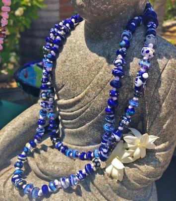 Lampwork Necklace by Glass Artist Jenelle Aubade