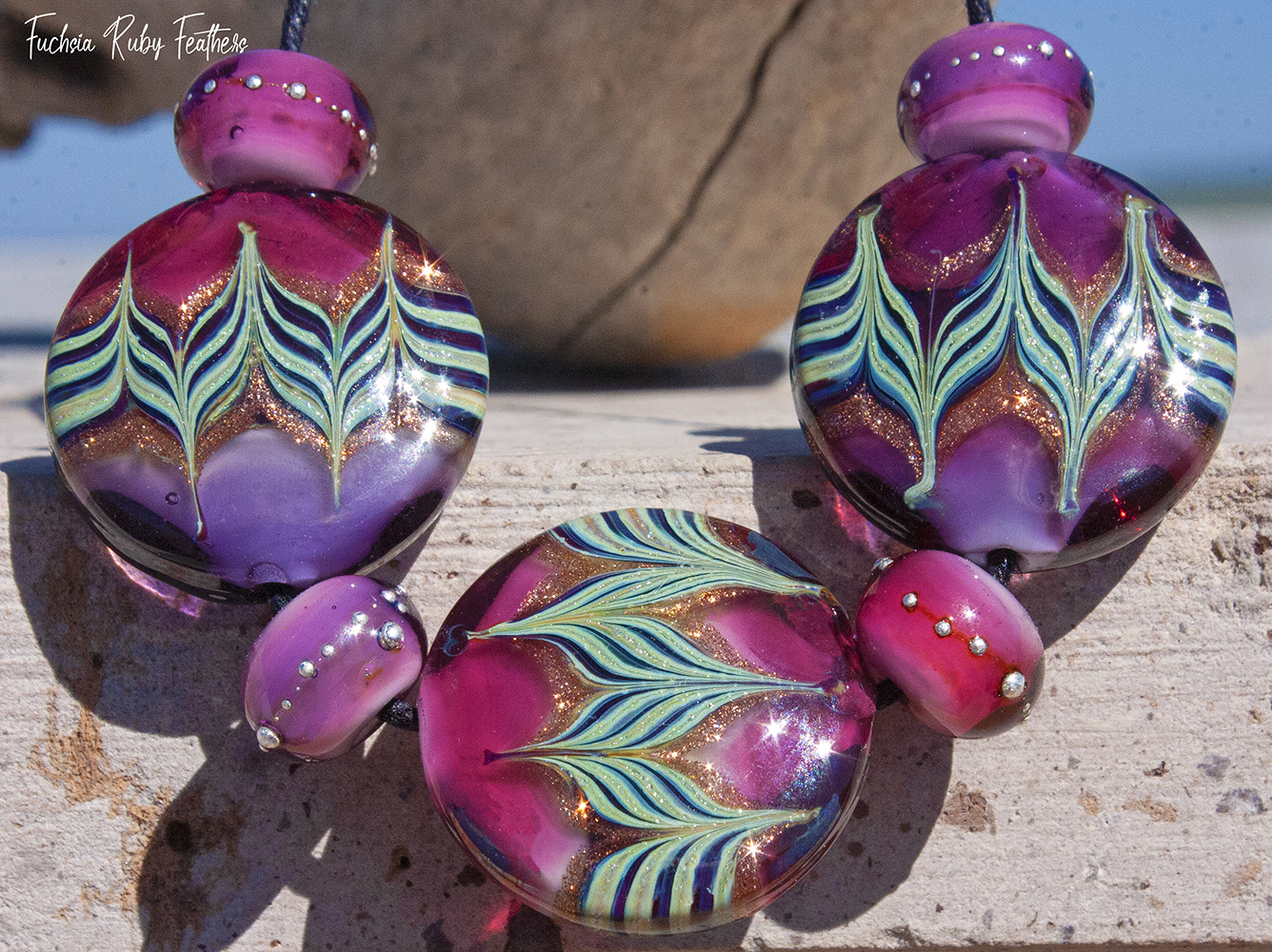 Paradise Lampwork featured by Artfire in October
